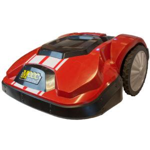 Bild på röd robotgräsklippare av modellen Meec 1200.